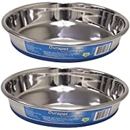 2 Pack Our Pets Durapet Stainless Steel Cat Dish 1 cup