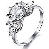 Beydodo Stainless Steel Ring (Engagement Rings) For Womens 2.5 MM Size 9 Silver