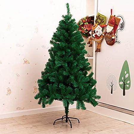QWESHTU Árbol de Navidad Artificial único Árbol Decorativo con Soporte en plástico Christmas Verde con Material PVC, ARBOL Navidad Grande en Caja, Bosque Tradicional Verde Soporte,3M(9.8ft): Amazon.es: Hogar