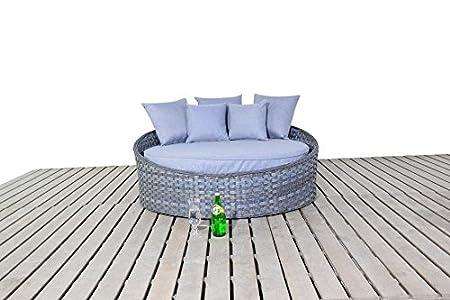 Manhattan Grey Rattan Garden Furniture Small Day Bed