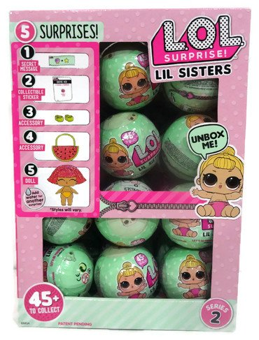Lol Surprise Lil Outrageous Littles Lil Sisters Series 2 Lets Be Friends Mystery Pack   Multi Pack Of 24 With Display Case