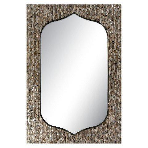 Surya Decorative Wall Mirror - Dark Taupe by Ecom