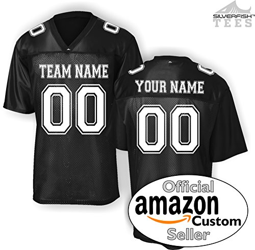 Custom Personalized Replica Football Jersey T-Shirt Add Your Team, Name, Number