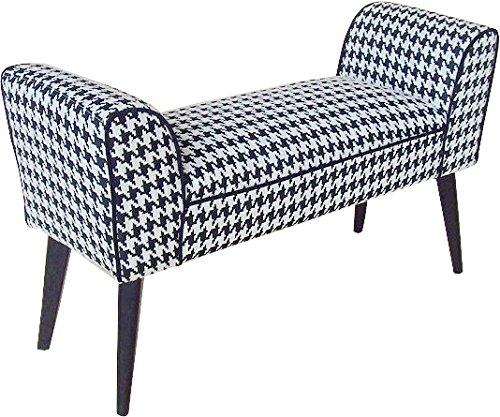 かわ畑 モダンテイストスツール 千鳥柄のベンチ椅子 1407STC001 B017VC1NQO