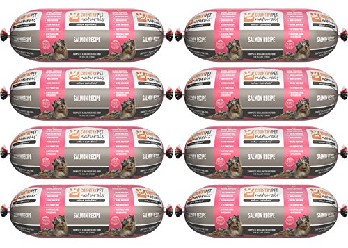Native Essentials Dog Food (Salmon Recipe, 8 Rolls - 12 lbs) - Natural Ingredients with Added Vitamins & Minerals - Shelf Stable Food, Topper or Training Reward - Made in The USA by CountryPet Naturals (Image #6)