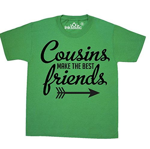 inktastic - Cousins Make Youth T-Shirt Youth Medium (10-12) Kelly Green 2938e