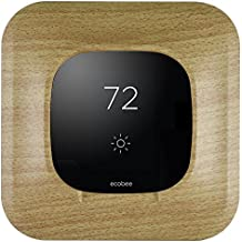 Aobelieve Plastic Wall Plate for Ecobee3 Thermostat (Wood Pattern)