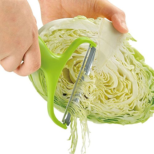 Cabbage Vegetable (Stainless Steel Cabbage Wide Mouth Fruit Peeler Knife Salad Vegetables Peelers Kitchen Accessories)