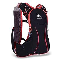 Docooler 5L Outdoor Sport Running Vest Backpack Women/Men Hydration Vest Pack for 1.5L Water Bag Cycling Hiking Bag