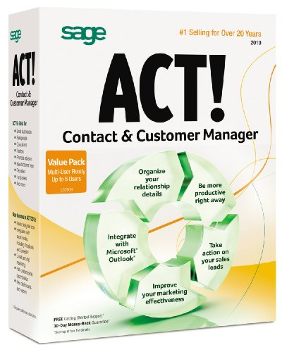 Act By Sage 2010 Multipack 5 User