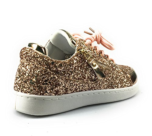 Link Glitter 18 REMY Forever Sneakers Rosegold Fashion Women's agnSAdwx