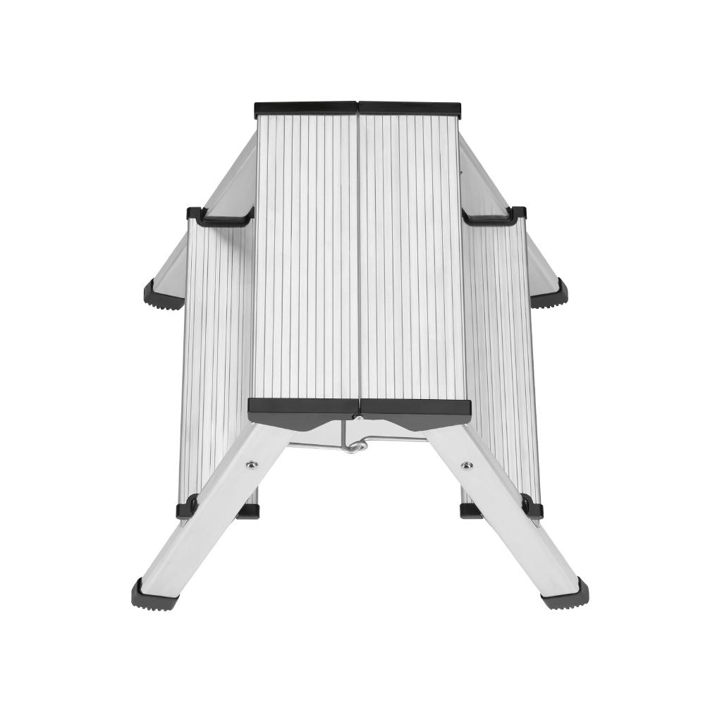 hailo alu klapptritt l90 stepke 2 stufen haushaltsleiter. Black Bedroom Furniture Sets. Home Design Ideas