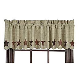 Abilene Five Point Star Cotton Green Valance 16x72 Inches