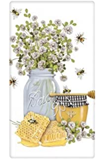 "Mary Lake Thompson /""Iris Lemon Jar/"" Flour Sack Towel"