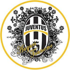 Cialda Ostia Pour Gateau Juventus Football Decoration Sans Gluten