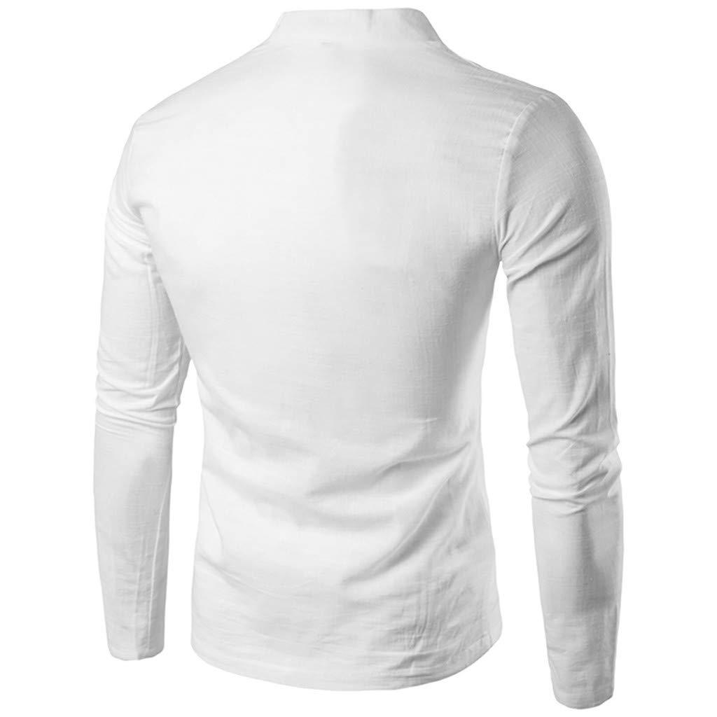 Corsion Mens Casual Long Sleeve Basic Blouse Male Fashion Slim Button Shirt Top