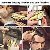 Updated Version Professional Cordless Hair Clippers LED Display Haircut Kit USB Rechargeable 2000mAh Hair Beard Trimmer Haircut Grooming Kit for Men/Father/Husband/Kids/Pet with An All Metal Housing