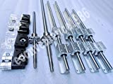 2 x SBR16--260mm/360mm linear rail+RM1605-260/360mm-C7 ballscrew+BK/BF12 end bearing& 6.35*10mm coupling CNC set