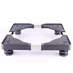 Multi-functional Movable Adjustable Base, with 8 Locking Rubber Swivel Wheels Cart outdoor Roller Dolly for Refrigerator and Washing Machine Stand Base WS01