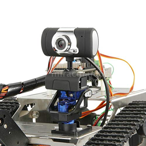 FORESTIME RC Tank TH Robot WiFi Smart DIY Crawler RC Robot Tank 480P Camera RC Auto (Black, Big) by FORESTIME (Image #3)