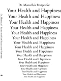 Dr Monzello's Recipes for Your Health and Happiness, H. K. Monzello, 1425937144