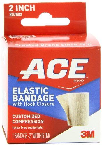 ACE Elastic Bandage with Hook Closure, 2 Inches