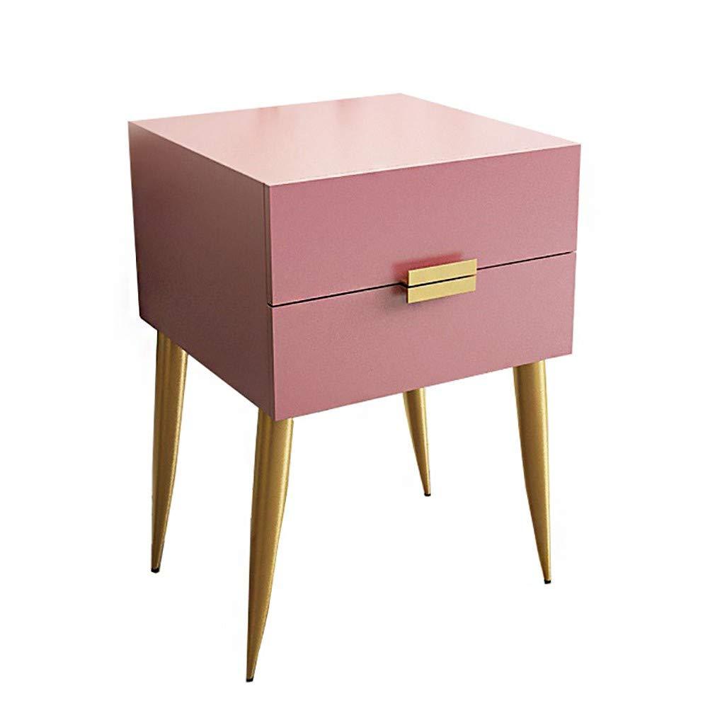 GYTOO Mid-Century Nachttisch Nachttisch Schrank mit Schublade Material Massivholz Modernes Design Schlafzimmermöbel mit 2 Schubladen