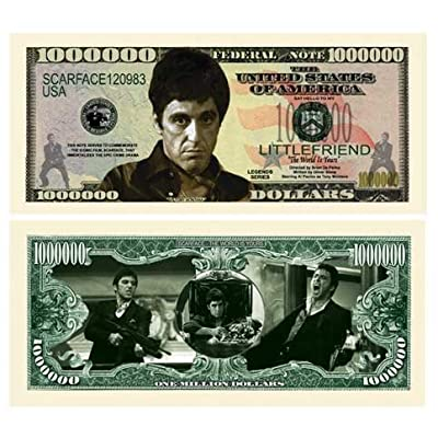 American Art Classics Pack of 5 - Scarface Al Pacino Million Dollar Bill - Best Gift for Fans of This Classic Movie: Toys & Games