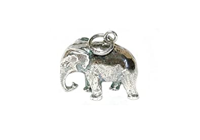 Retro charms vintage finished sterling silver 925 large indian retro charms vintage finished sterling silver 925 large indian elephant charmpendant v54 mozeypictures Image collections