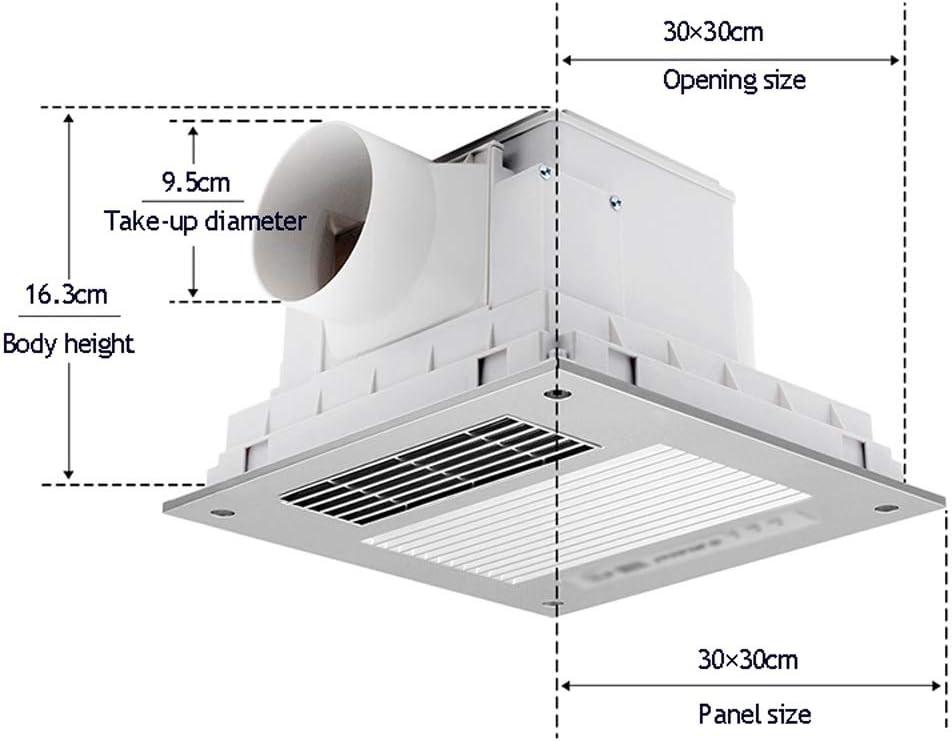 Calentador Yuba, Techo Integrado De 30 × 30 Cm, Extractor De Baño, Un Interruptor De Control Remoto ZHAOSHUNLI 828: Amazon.es: Hogar