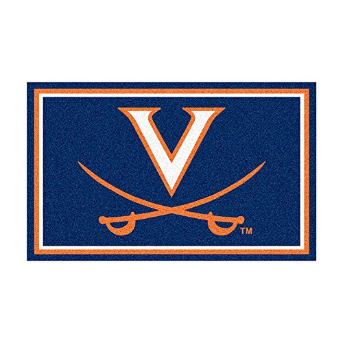 FANMATS NCAA University of Virginia Cavaliers Nylon Face 4X6 Plush Rug