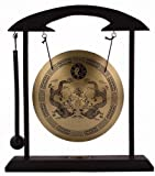 This Zen Art Brass Feng Shuii Desktop Gong makes soothing sound with the attached rammer! It is believed that Feng Shui Windbell may bring you wealth and keep your home peaceful and safe by frighten away evil spirits. An unique exotic additio...