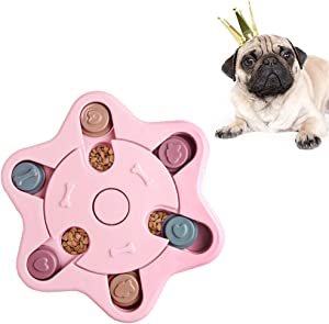 Andiker Dog Boredom Breaker Improve IQ, Puzzle Toy for Pet and Cat, Slow Feeder Treats Dispenser Interactive Toy to Hide and Seek Food