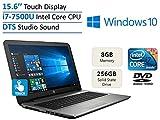 2017 New Edition HP 15.6'' HD Touchscreen High Performance Laptop PC, Intel 7th Gen Core i7-7500U 2.7GHz, 8GB RAM, 256GB SSD, HDMI, Bluetooth, Intel HD Graphics 620, DVD +/- RW, Windows 10-Silver Review