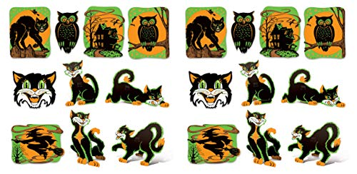 Beistle 00391 Vintage Halloween Fluorescent Cutouts 20 Piece, 8.5