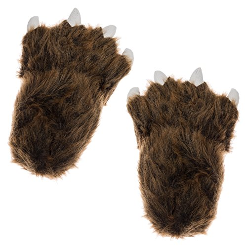 White for Brown Slippers Women Animal Men and Paw Tiger Claws q8BPt