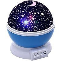 Smaate Night Light, Romantic Rotating Stars Projector...