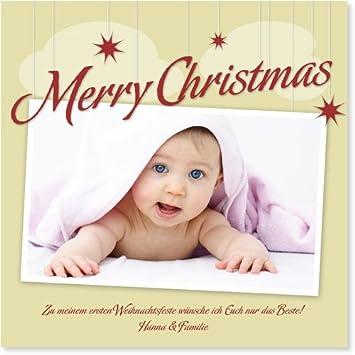 Weihnachtskarten Babyfoto.Weihnachtskarten Babyfoto Von Wunderkarten Amazon De Bürobedarf