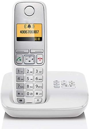 GUOOK TeléFono BotóN Vintage TeléFono InaláMbrico Expansible AnfitrióN TeléFono Individual Oficina En El Hogar TeléFono Fijo Llamadas Manos Libres Bienvenido (Color: Blanco): Amazon.es: Hogar