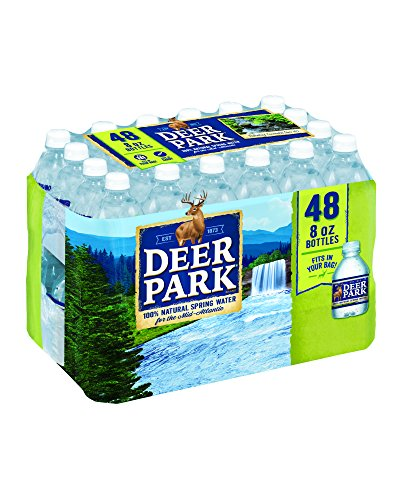 Deer Park 100% Natural Spring Water, 8-ounce mini plastic bottles, 48 Count -