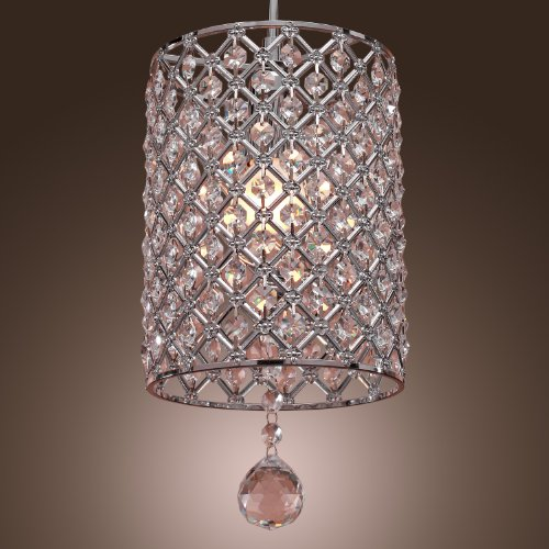 (LightInTheBox Contemporary Crystal Drop Pendant Light in Cylinder Style)