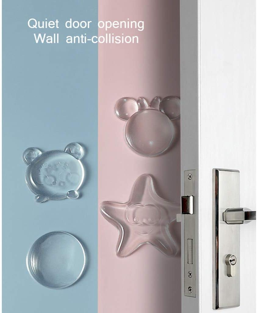Guoguocy Door Stops Door Stopper Wall Protector Color : C -Clear,Quiet,Shock Absorbent Gel-Adhesive Reusable Bumper Protector,Soft Silicone 4 PCS