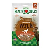 Nylabone Healthy Edibles Wild Antler Natural Long Lasting Dog Chew Treats 10 Count Medium Larger Image