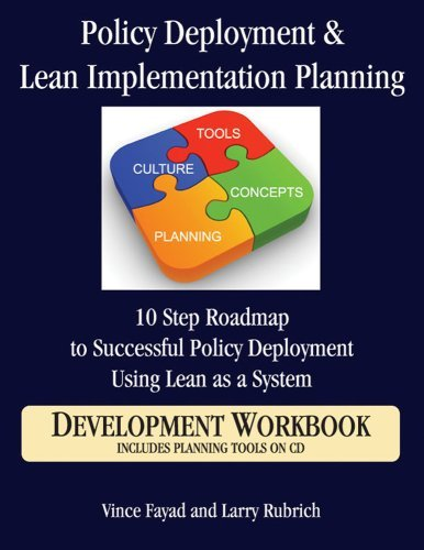 By Vince Fayad Policy Deployment & Lean Implementation Planning: 10 Step Roadmap to Successful Policy Deployment Us [Spiral-bound] ebook