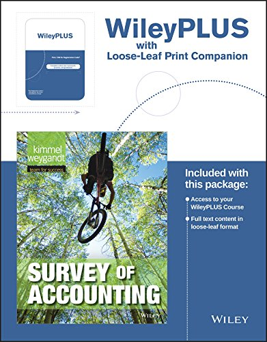 Survey Of Accounting Wileyplus Registration Card   Loose Leaf Print Companion