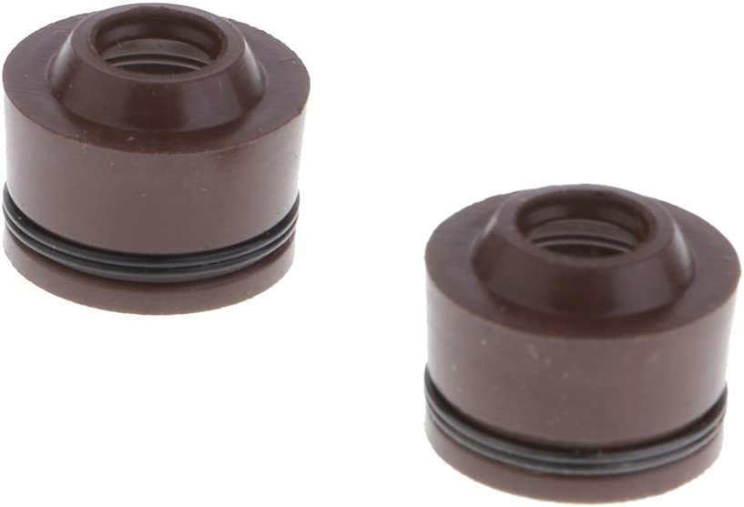 Dolity 2Pcs Valve Stem Seals Replacement for GY6 50cc 80cc 125cc 150cc Engine Scooter Moped Motor