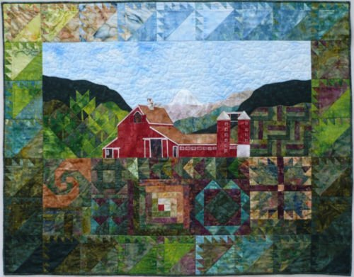 Quilt PATTERN - You can see it from here… (barn, meadow, snail trail, mountain)