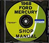 1968 FORD FACTORY REPAIR SHOP & SERVICE MANUAL CD INCLUDES: Ford Custom, Ford Custom 500, Galaxie 500, Ford XL, LTD, Ranch Wagon, Custom Ranch Wagon, Country Sedan and Country Squire 68