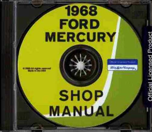 1968 FORD FACTORY REPAIR SHOP & SERVICE MANUAL CD INCLUDES: Ford Custom, Ford Custom 500, Galaxie 500, Ford XL, LTD, Ranch Wagon, Custom Ranch Wagon, Country Sedan and Country Squire 68 ()