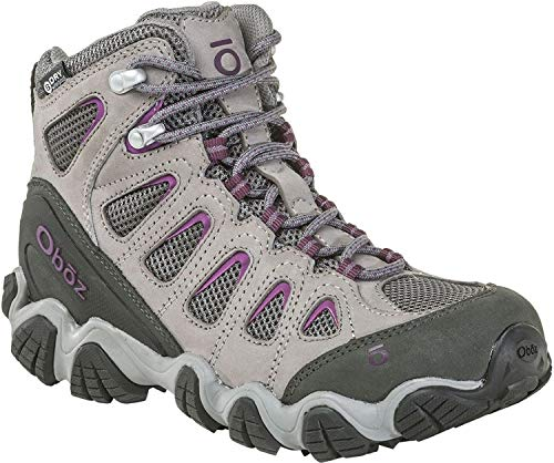 - Oboz Sawtooth II Mid B-Dry Hiking Boot - Women's Pewter/Violet 9